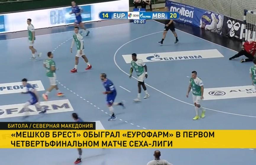 Гандболисты «Мешков Бреста» с победы стартовали в новом сезоне в SEHA-лиге