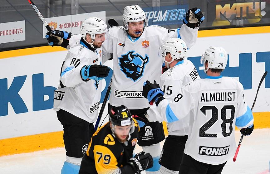 Хоккеисты минского «Динамо» обыграли череповецкую «Северсталь» в КХЛ