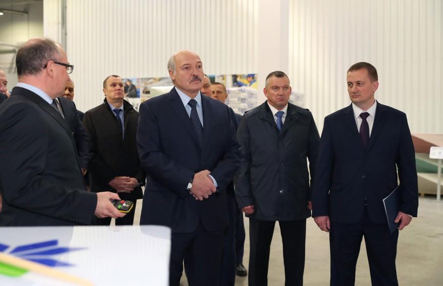 Александр Лукашенко посетил предприятие «Белгипс»