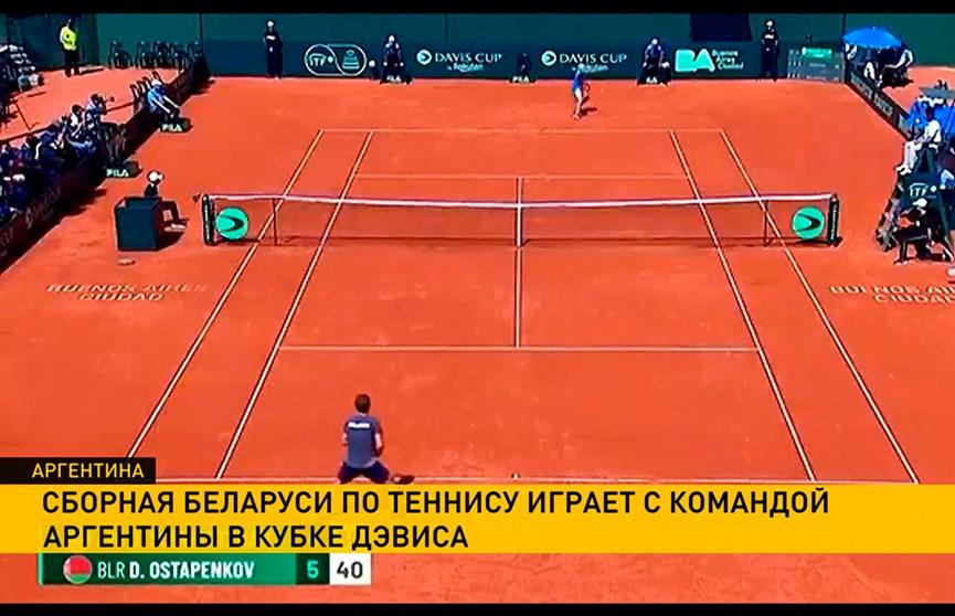 Мужская сборная Беларуси по теннису продолжает выступление в Кубке Дэвиса