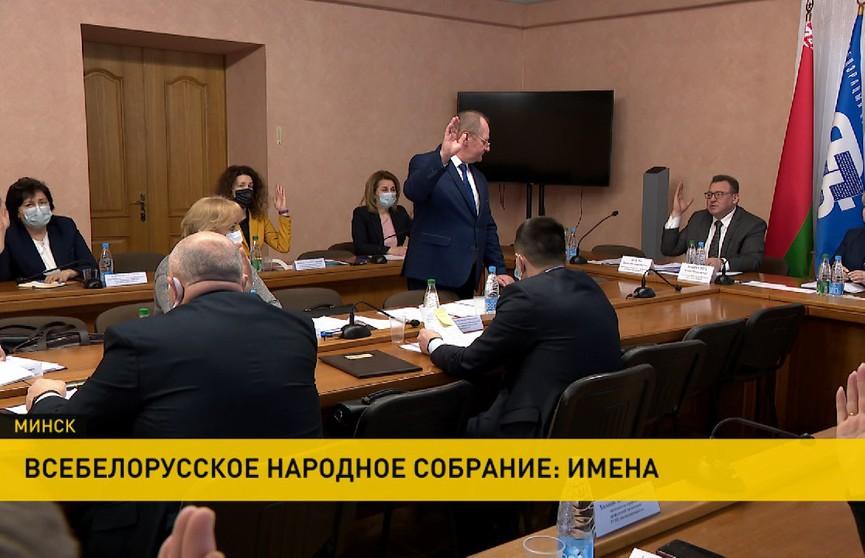 Всебелорусское народное собрание: делегатов представил профсоюз медиков