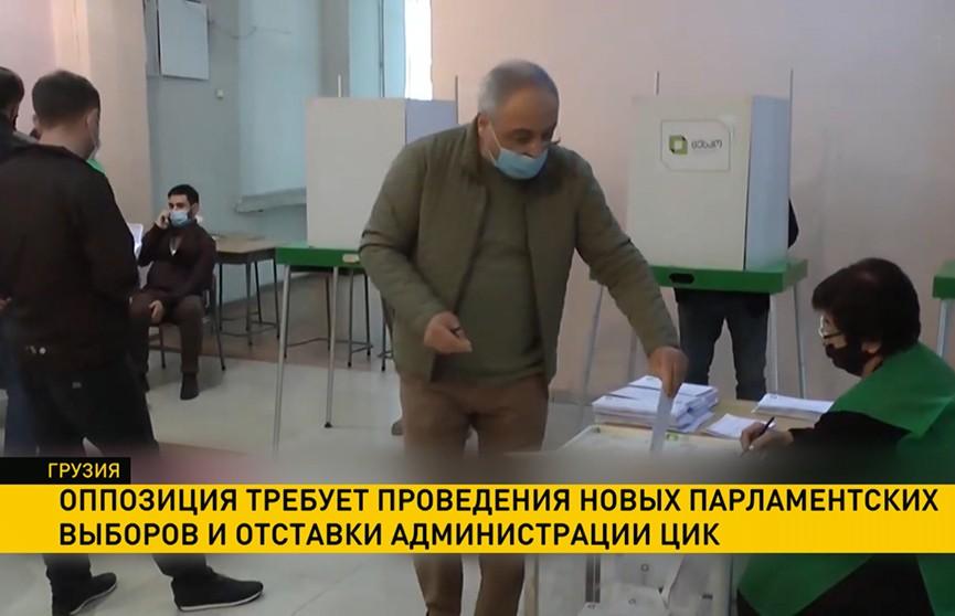 В Грузии оппозиция требует проведения новых парламентских выборов