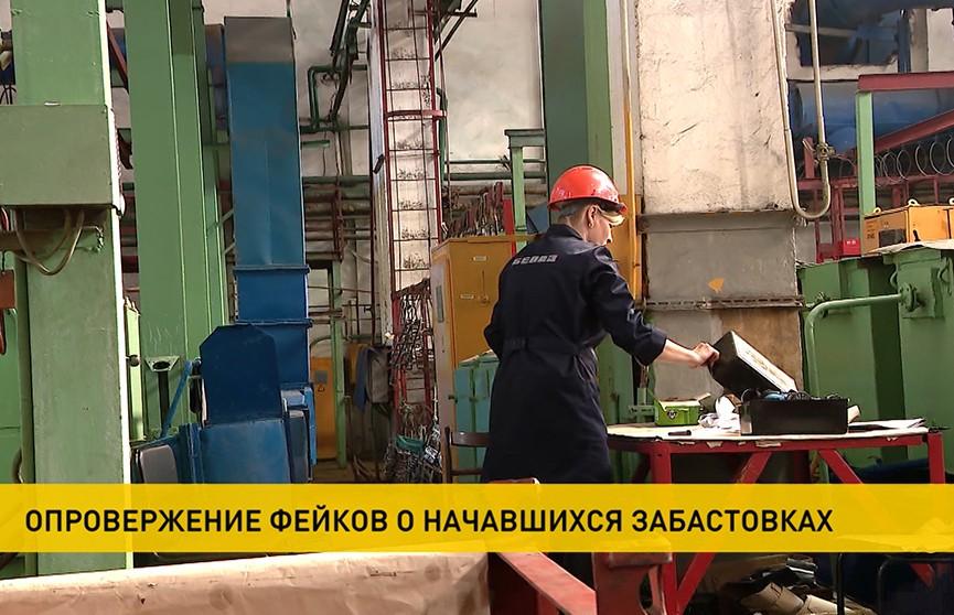 Предприятия Беларуси опровергают фейки о начавшихся забастовках