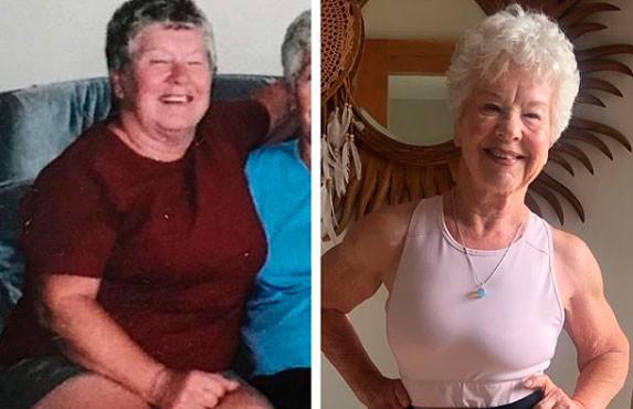 Пожилая женщина похудела на 25 кг, купила iPhone и стала популярным блогером
