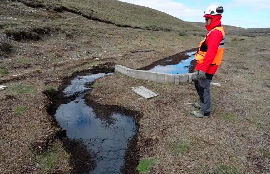 Крупный разлив нефти произошёл в Чили