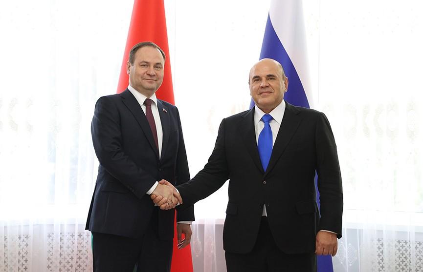 Премьер-министры Беларуси и России обсудили сотрудничество двух стран