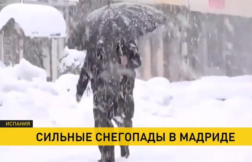 Впервые за 10 лет в Мадриде выпал снег