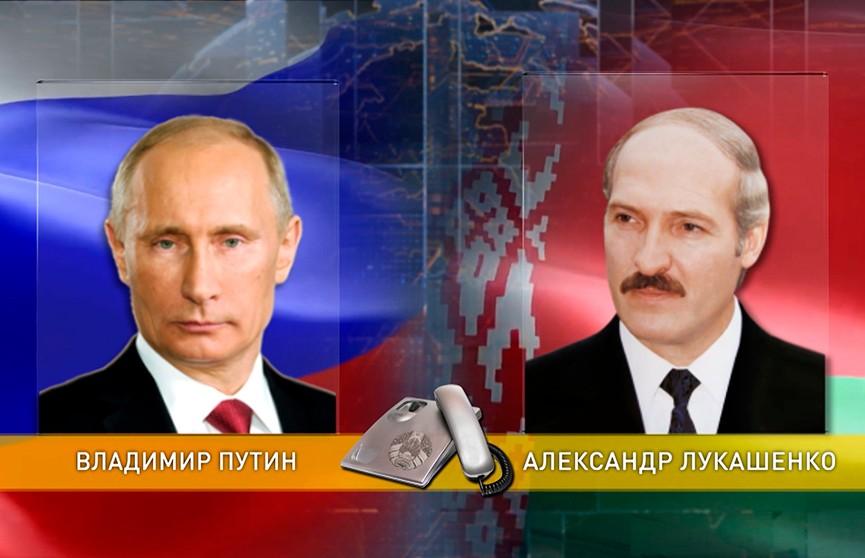 Александр Лукашенко и Владимир Путин  по телефону обсудили белорусско-российские отношения и график предстоящих контактов