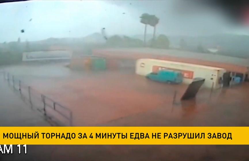 Мощный торнадо за 4 минуты едва не разрушил фабрику в Греции – видео
