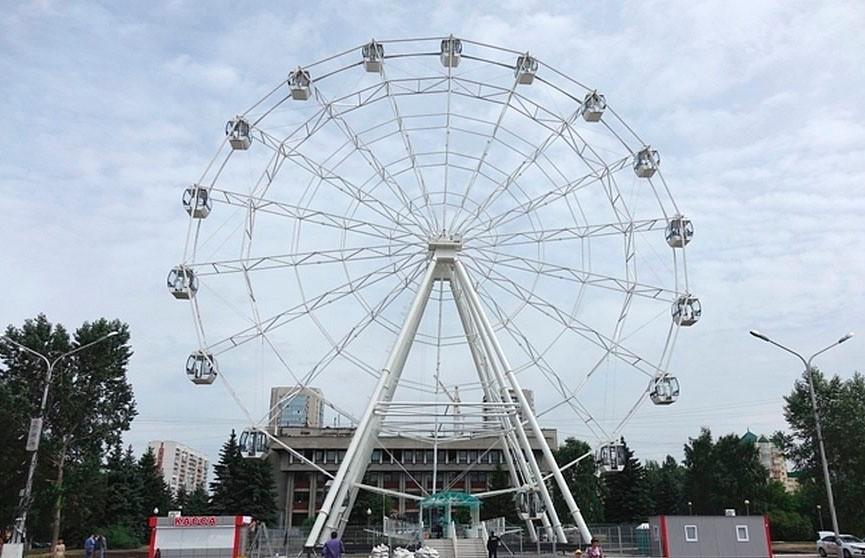 Из-за непогоды в Кузбассе «взбесилось» колесо обозрения