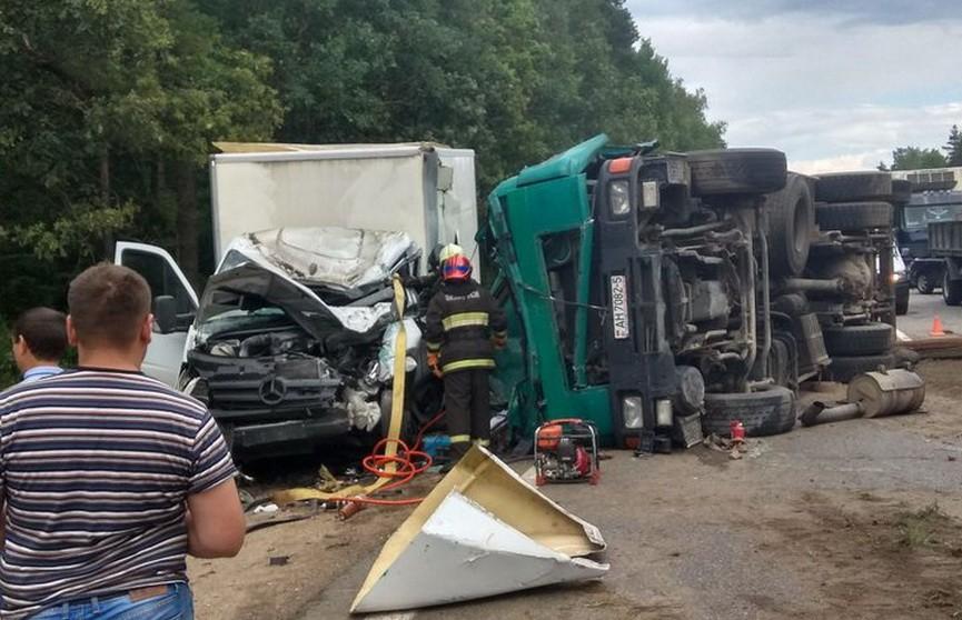 На трассе Минск-Гомель фура смяла грузовик: погиб водитель