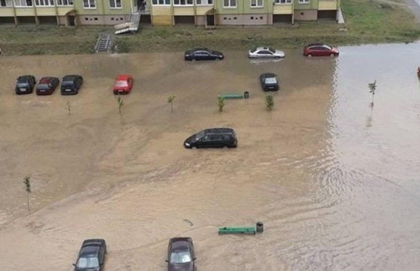 Ливень затопил новый микрорайон в Гродно