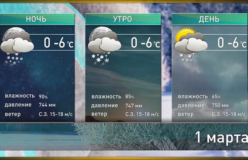 Прогноз погоды на 1 марта