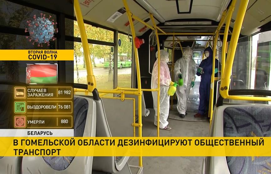 Профилактика коронавируса: в Гомельской области регулярно дезинфицируют общественный транспорт