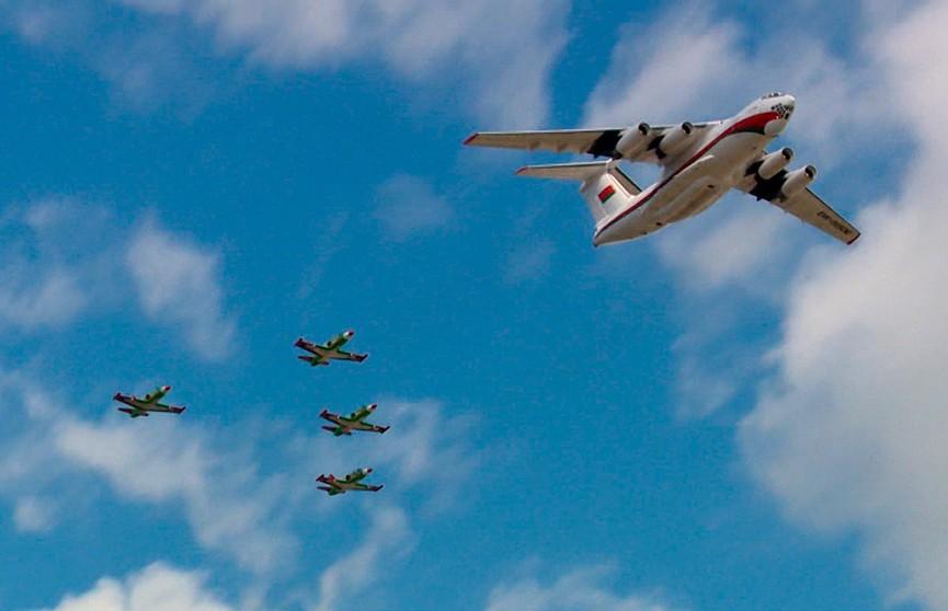 Тренировка воздушного эшелона парада к Дню Независимости прошла в Минске (ВИДЕО)
