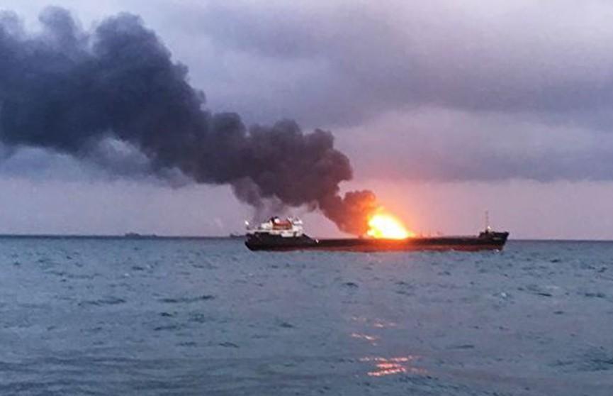 Два танкера горят в Чёрном море, есть жертвы