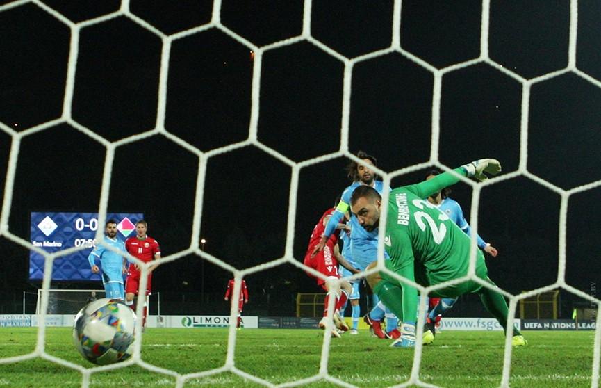 Сборная Беларуси добилась победы над Сан-Марино и выиграла свою группу Лиги наций