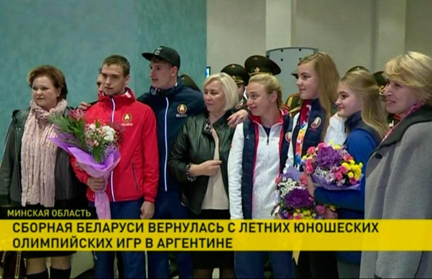 Девять медалей привезли белорусские спортсмены с летних Юношеских Олимпийских игр