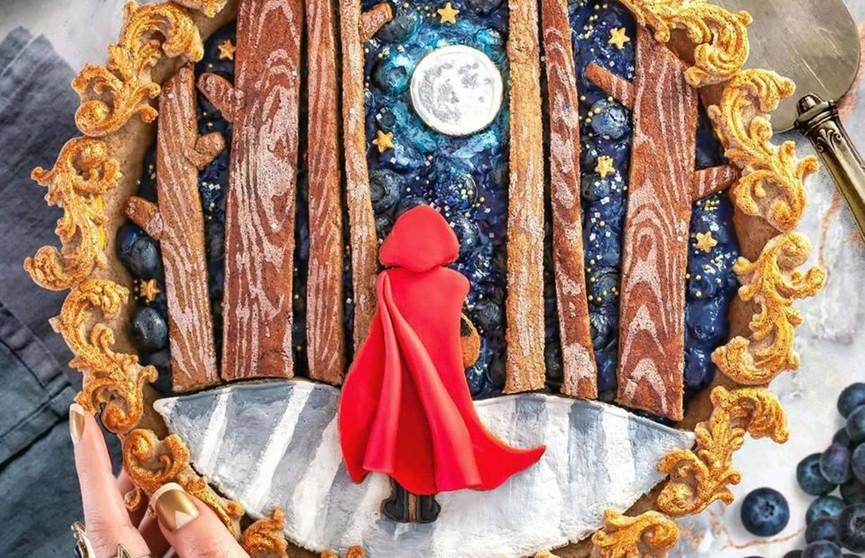 Произведения искусства: кондитер воссоздает на тортах сюжеты из сказок