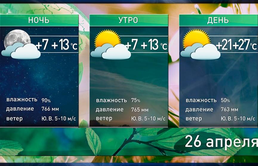 Прогноз погоды на 26 апреля: днём до +27°С