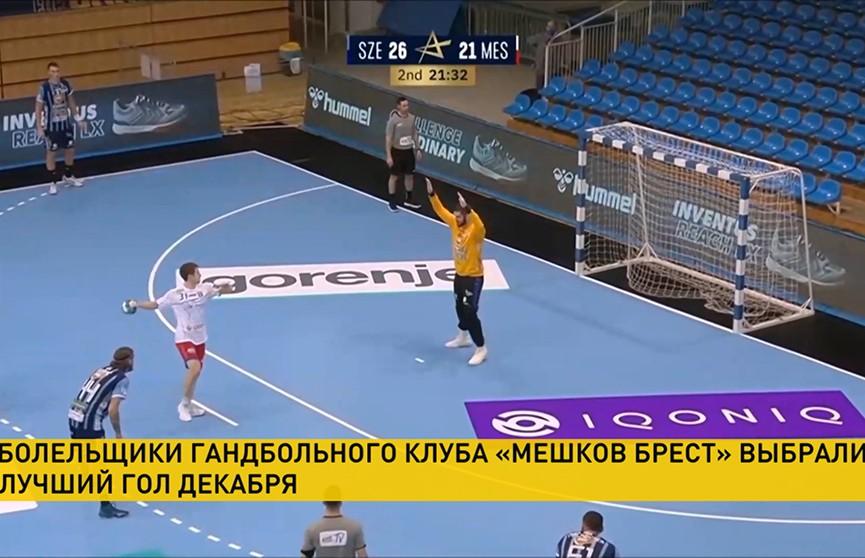 Болельщики гандбольного клуба «Мешков Брест» выбрали лучший гол декабря