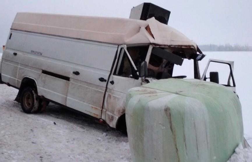 Автобус и трактор столкнулись в Гомельской области: водителя микроавтобуса с трудом извлекли сотрудники МЧС