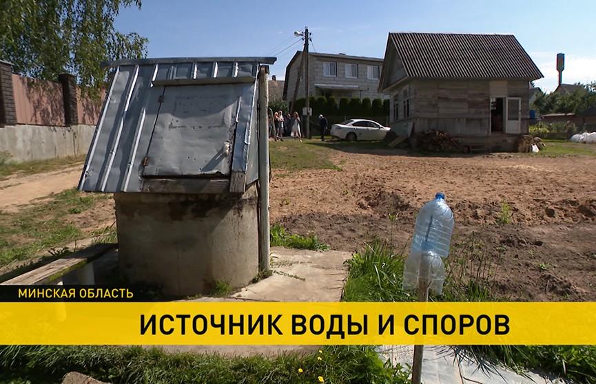 В одном из товариществ Минского района соседи несколько месяцев спорят из-за колодца