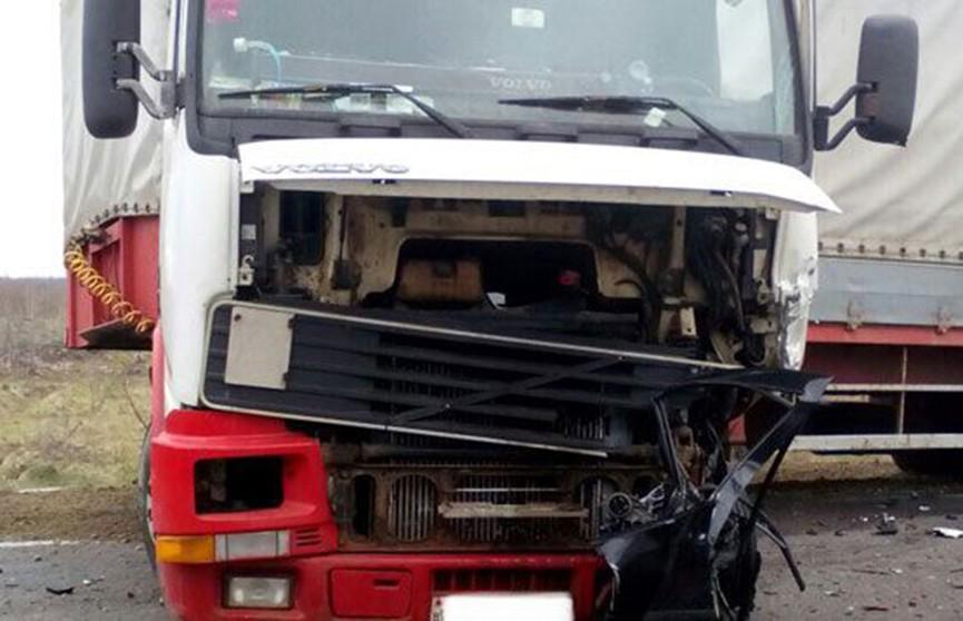 Легковушка столкнулась с фурой в Добрушском районе (Фото)