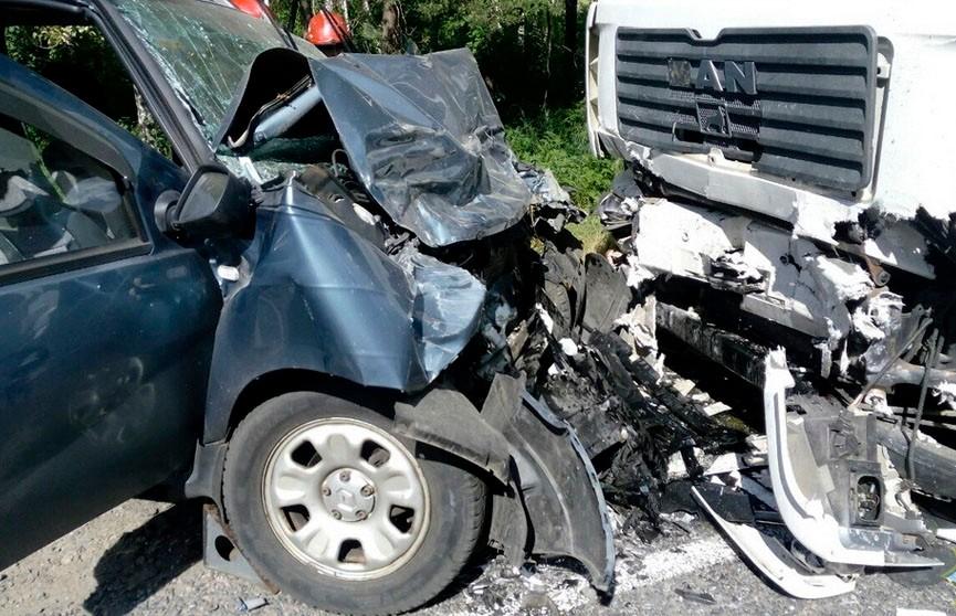 Лобовое столкновение грузовика и легковушки произошло в Светлогорском районе