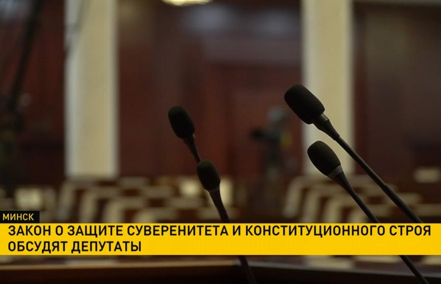 Закон о защите суверенитета и конституционного строя обсудят депутаты Палаты представителей