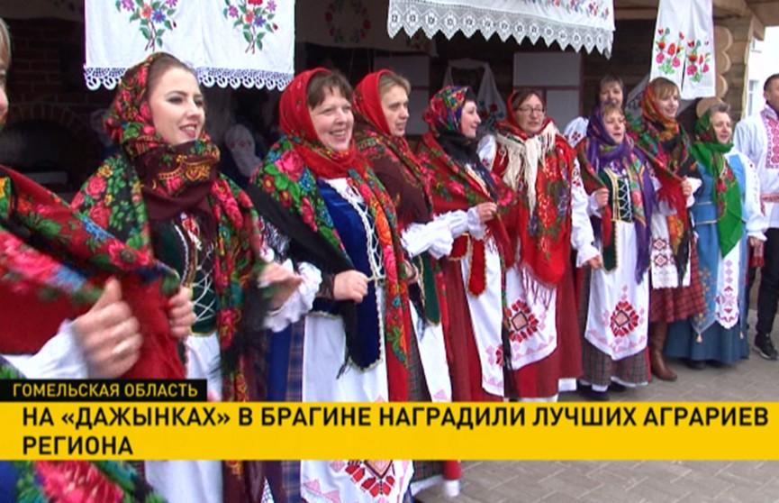 Лучших аграриев Гомельщины чествовали на областных «Дожинках» в Брагине