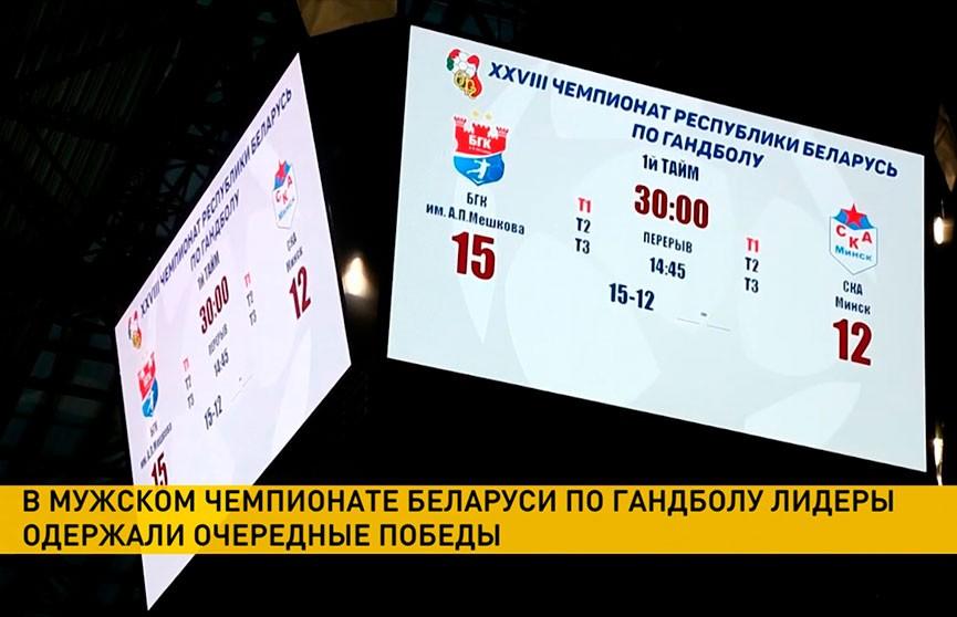 БГК имени Мешкова обыграл «Гомель» в матче чемпионата Беларуси по гандболу