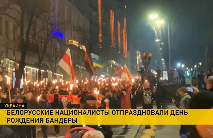 Факельное шествие в честь дня рождения Степана Бандеры состоялось в Украине