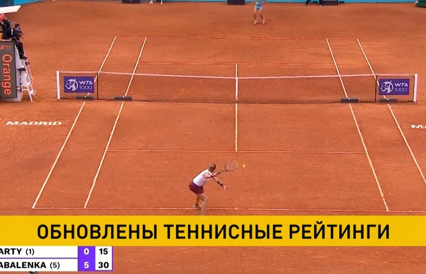 Обновлены мировые теннисные рейтинги. Белорусы сохранили свои позиции