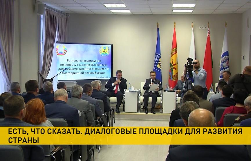 Развитие экономики и соцсферы регионов, образование и молодежная политика: в Беларуси заработали диалоговые площадки