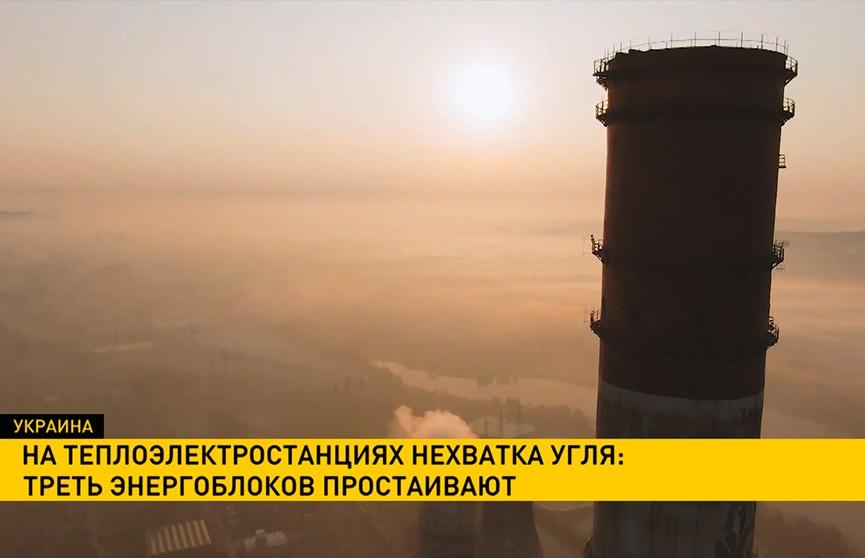 Из-за нехватки угля в простое оказалась треть энергоблоков на украинских электростанциях