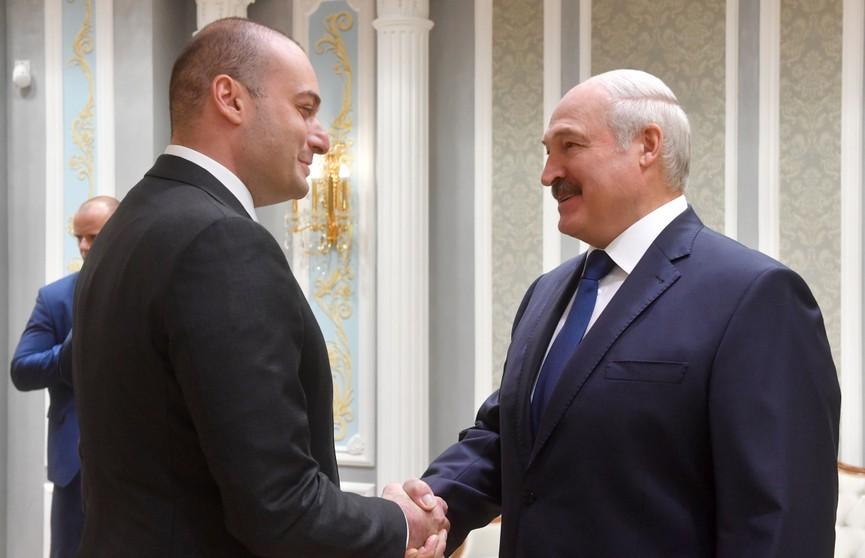 Александр Лукашенко провёл переговоры с премьер-министром Грузии Мамукой Бахтадзе