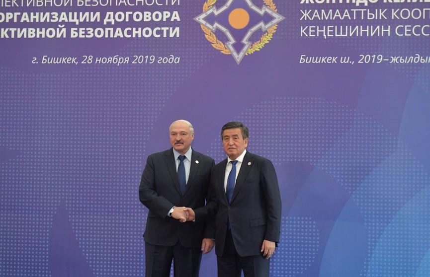Потенциал для содействия стабилизации ситуации в мире видит Лукашенко в ОДКБ