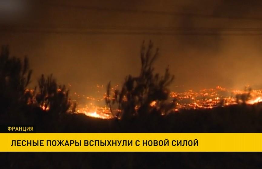 Лесные пожары во Франции вспыхнули с новой силой