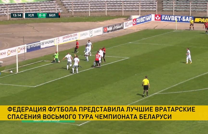 Федерация футбола представила лучшие вратарские спасения восьмого тура чемпионата Беларуси