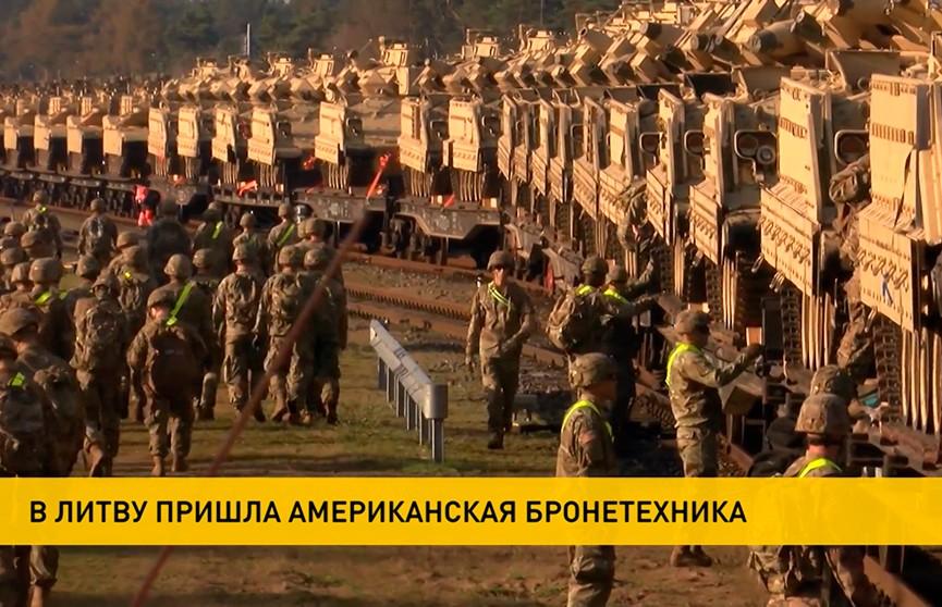 Лукашенко поручил отреагировать на размещение американских танков в Литве у границы с Беларусью