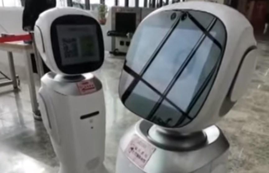 Ссора китайских роботов-библиотекарей попала на видео