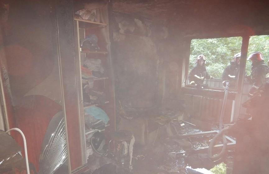 Молодого мужчину спасли на пожаре в Могилеве
