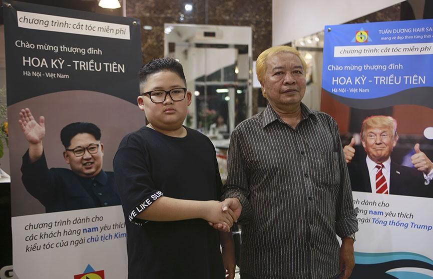 Жыхары В'етнама робяць прычоскі як у Трампа і Кім Чон Ына напярэдадні сустрэчы двух лідараў