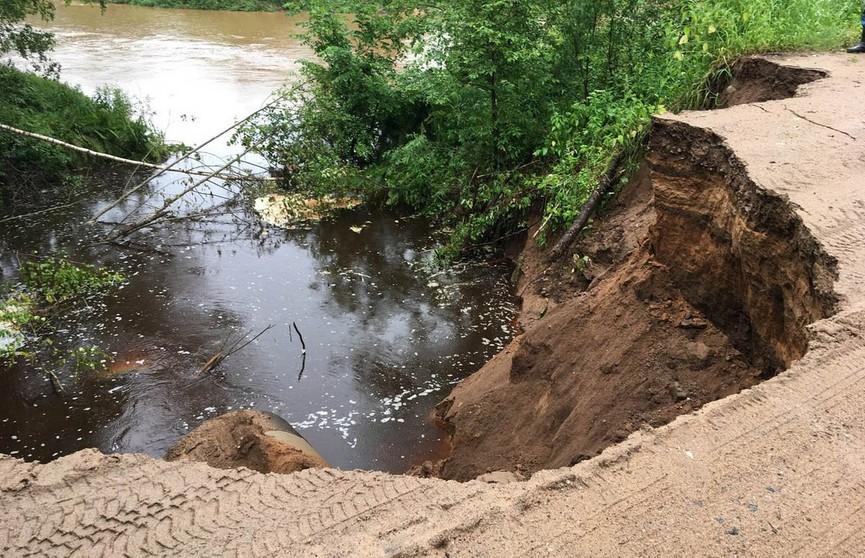 Дождь «смыл» дорогу в Берестовицком районе