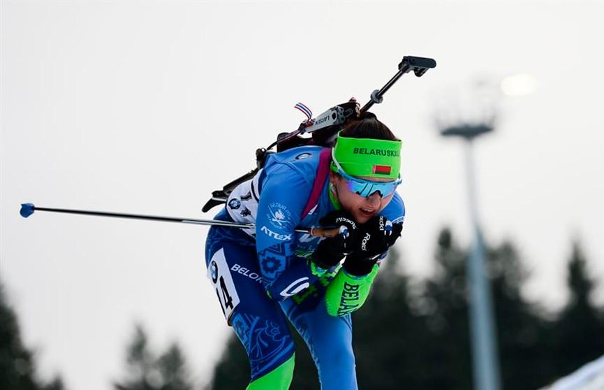 Белорусские биатлонистки заняли восьмое место в эстафете на этапе Кубка мира в Оберхофе