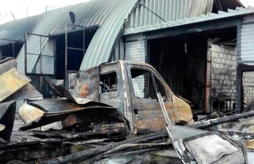 Установлена причина пожара на территории транспортно-логистического центра в агрогородке Гатово