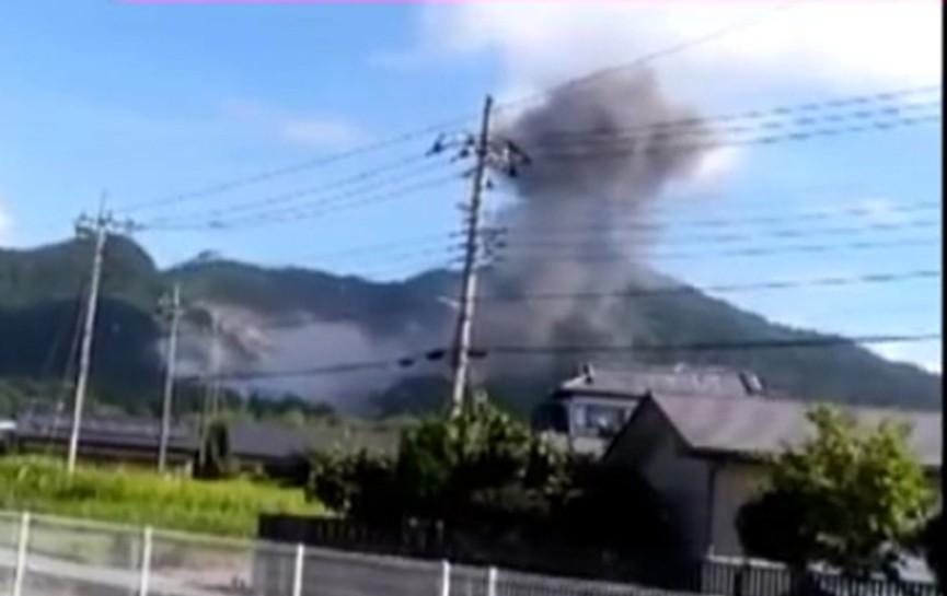 Грузовик с порохом взорвался в Японии