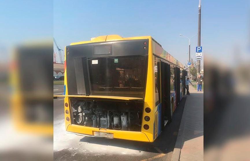 Автобус загорелся в Минске