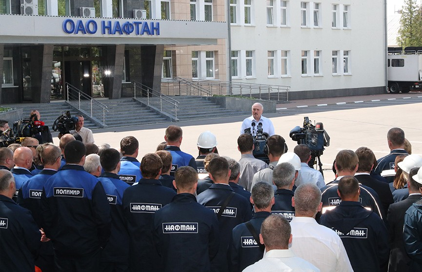 Компенсация ущерба и перспективы развития: итоги визита Александра Лукашенко на «Нафтан»